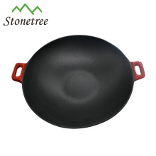 Wholesale Japanese Industrial Vegetable Oil Mini Cast Iron Wok Set